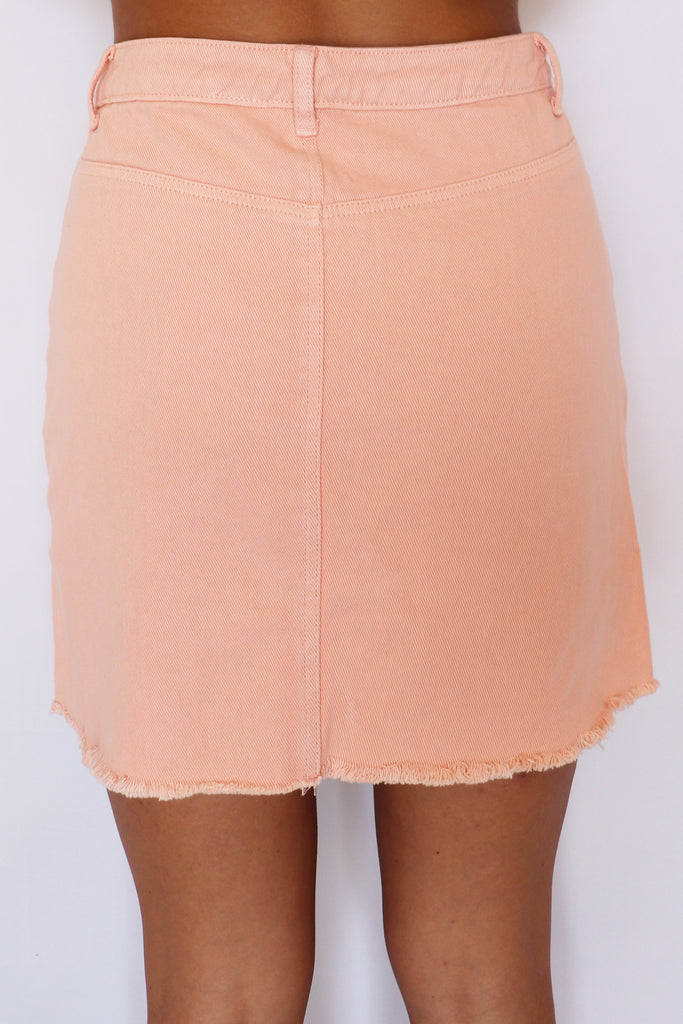 ALL FOR YOU DENIM MINI SKIRT | FAIRE Blu Spero online shopping