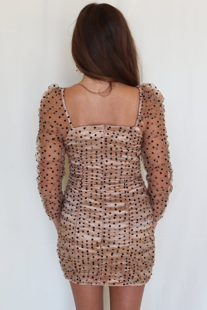 LAST DANCE POLKA DOT MINI DRESS | DO + BE Blu Spero online shopping