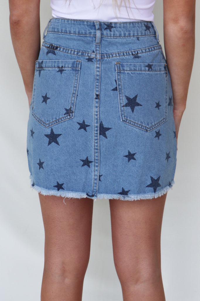 MY CROWN STAR PRINT SKIRT