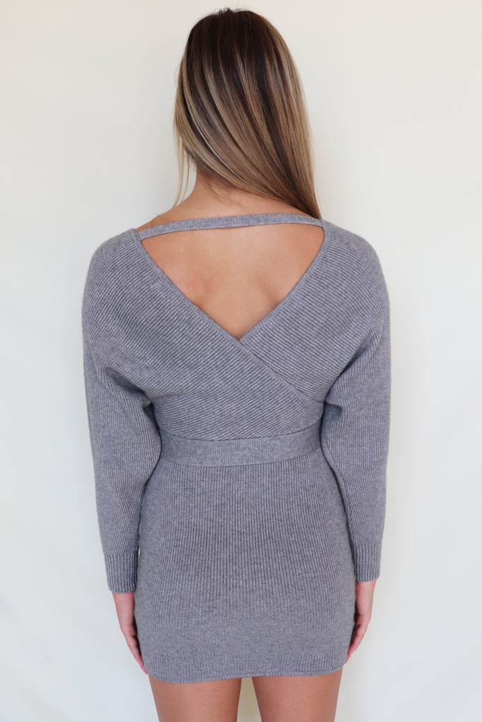 MORE THAN WORDS SWEATER DRESS | Olivaceous Blu Spero online shopping