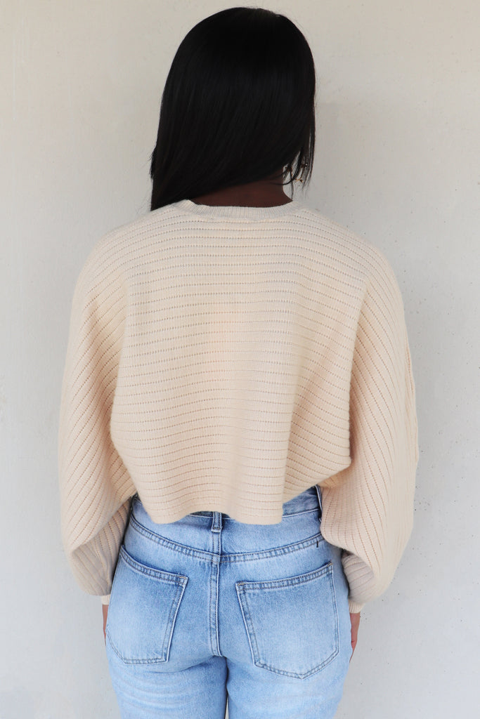 FALL ARRIVES CROPPED SWEATER - 2 COLORS