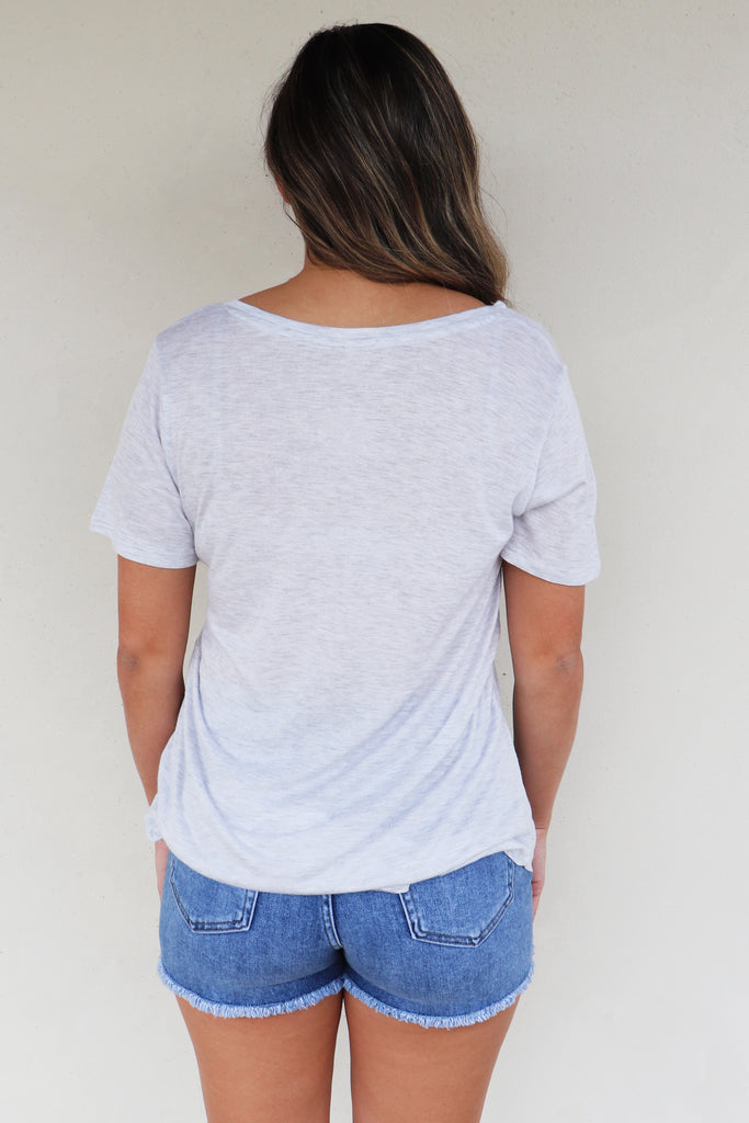 KEEP IT CASUAL HEATHER GREY TEE