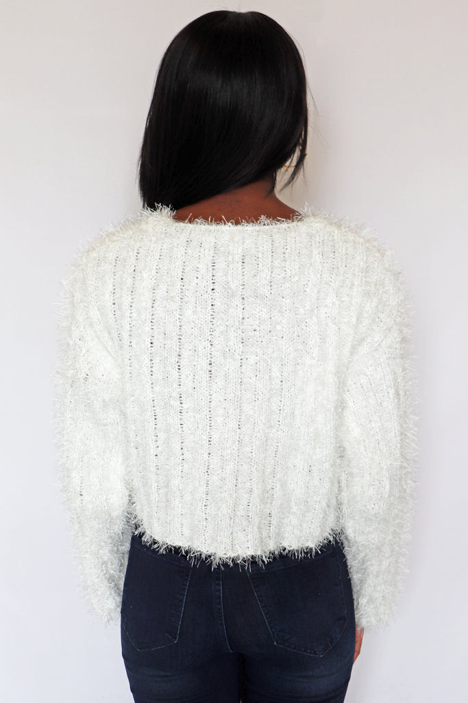 COMFORT WITH CLASSY FUZZY SWEATER | LE LIS Blu Spero online shopping