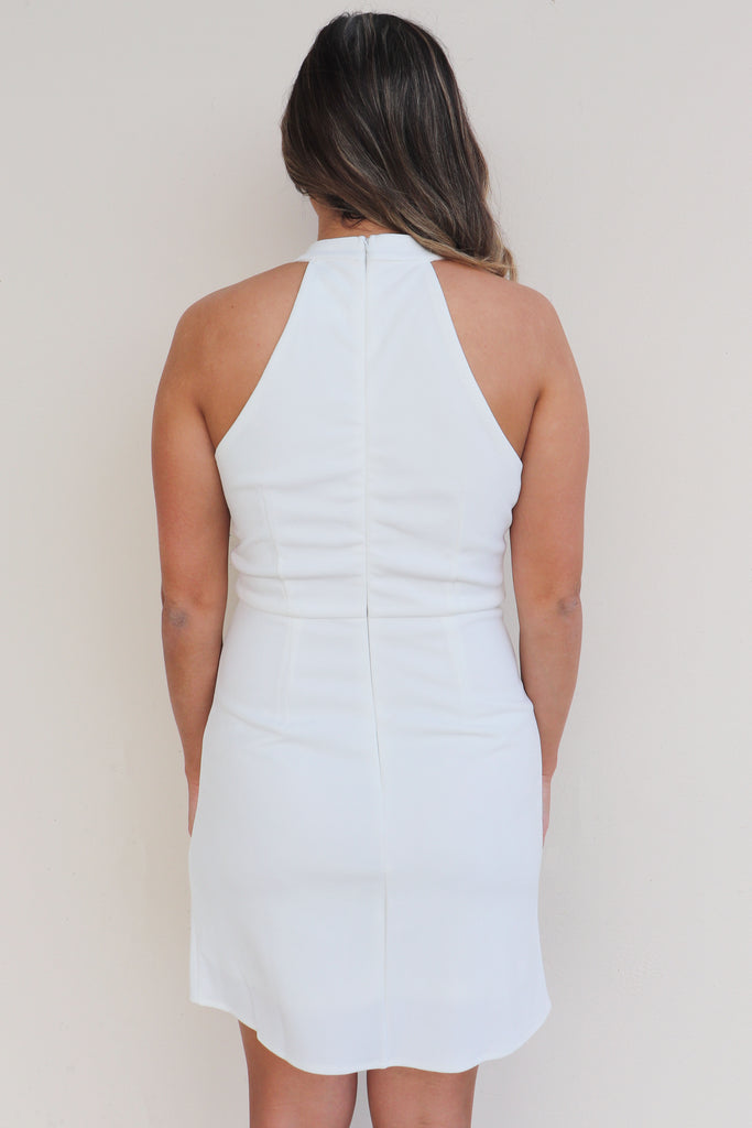 BRIDE TO BE HIGH NECK DRESS | SHE + SKY Blu Spero online shopping