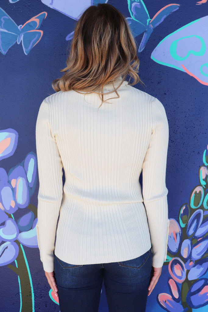 BUTTONED UP BABE SWEATER | &MERCI Blu Spero online shopping