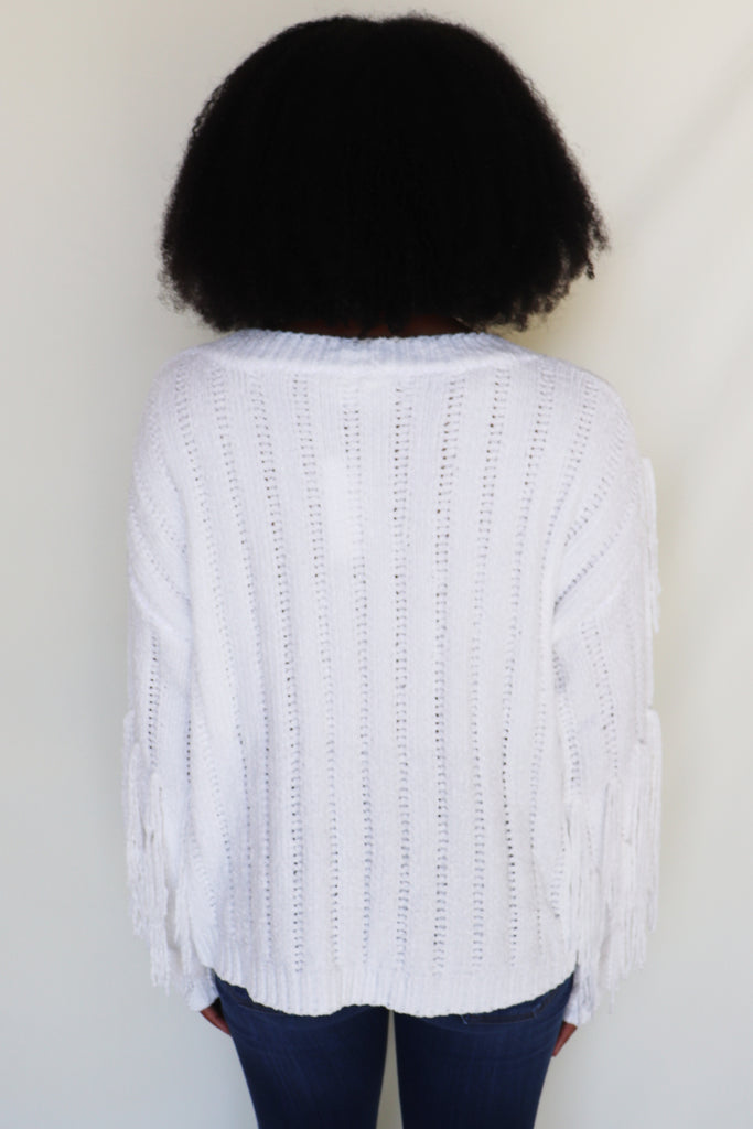 KISSED BY YOU FRINGE SWEATER | Sugar Lips Blu Spero online shopping
