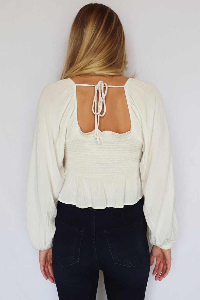 GIRLS NIGHT OUT CREAM TOP | FINAL TOUCH Blu Spero online shopping
