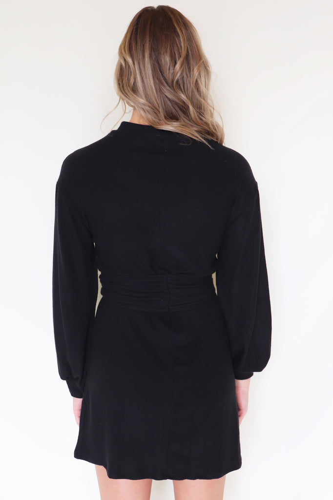 MY WAY BLACK LONG SLEEVE DRESS | LE LIS Blu Spero online shopping