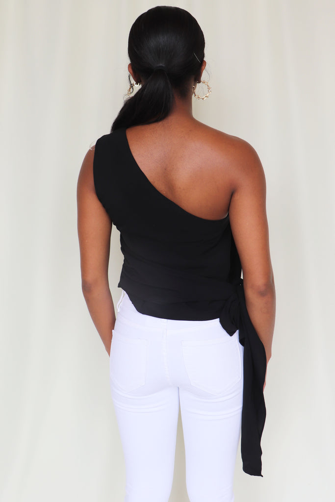 LITTLE THINGS ONE SHOULDER TOP - 2 COLORS