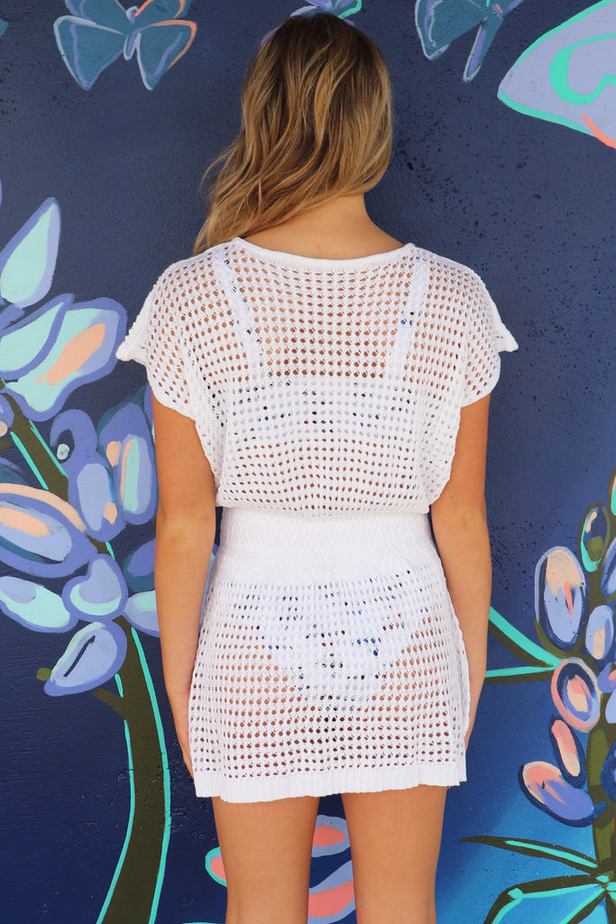 HERE COMES THE SUN WHITE CROCHET COVERUP
