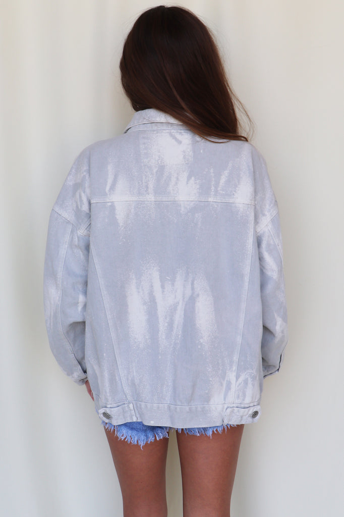 BIG LIGHTS ACID WASH JACKET