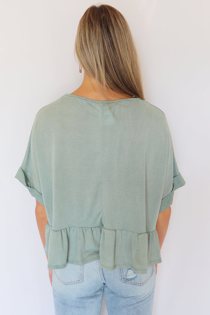 PERSONAL TIME RUFFLED TOP