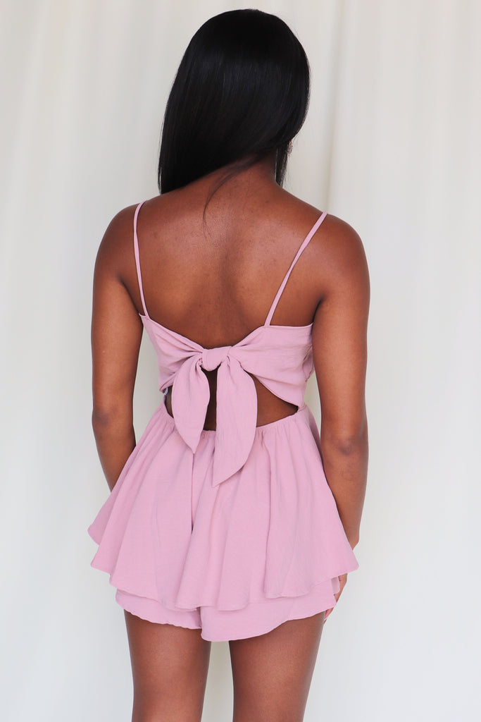 I'VE BEEN THINKING MAUVE ROMPER