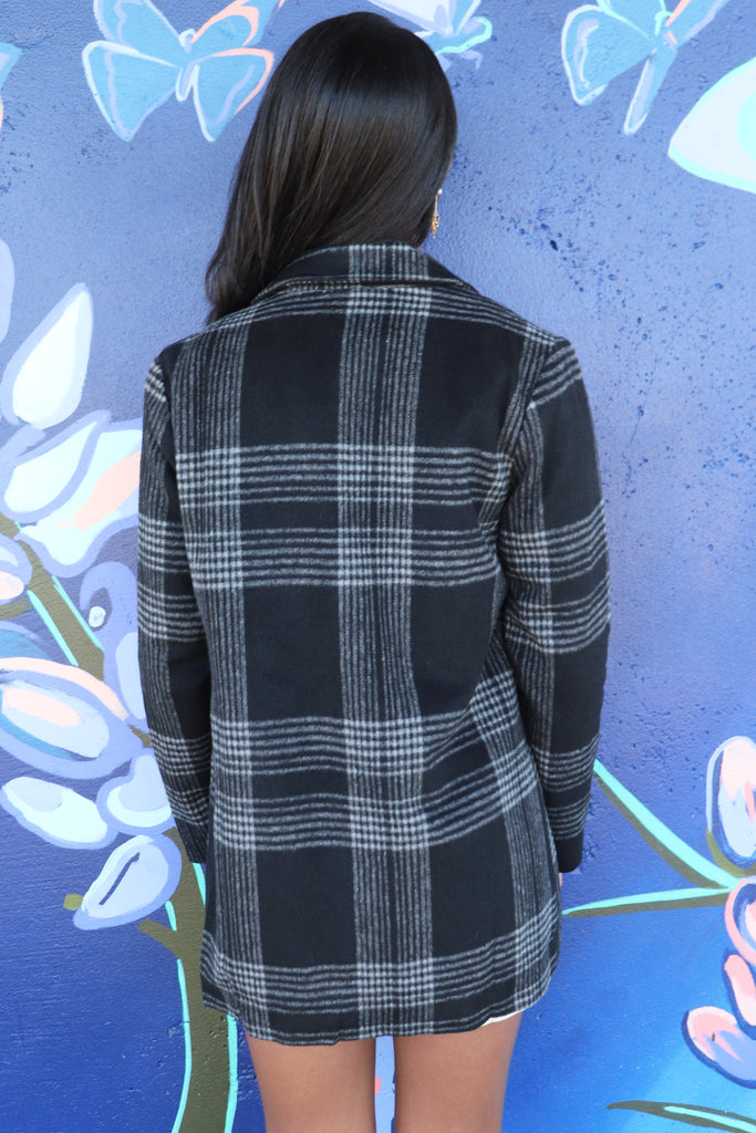 ALL MINE WOOL PLAID BLAZER JACKET | Entro Blu Spero online shopping