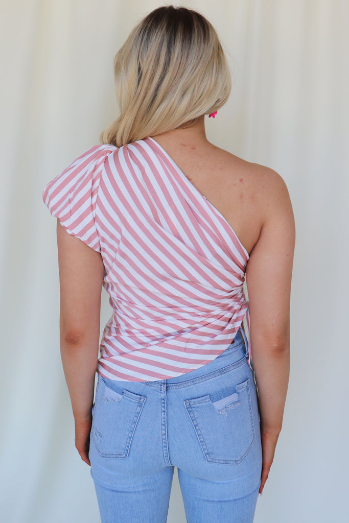 EASY MOMENTS ONE SHOULDER TOP