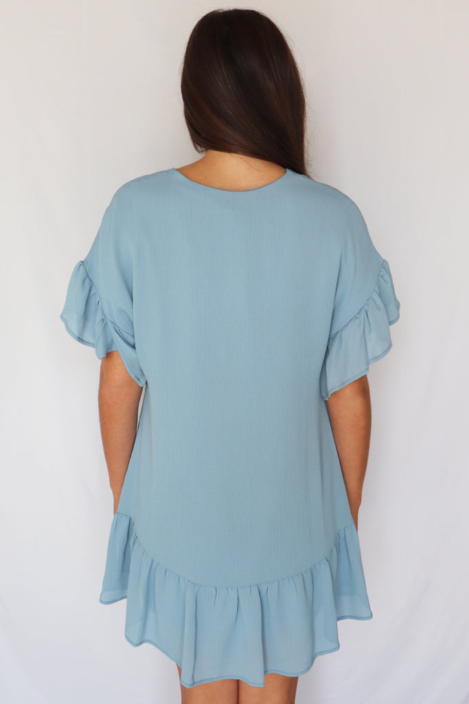 THE BEST DAY TEXTURED TUNIC DRESS | TYCHE Blu Spero online shopping