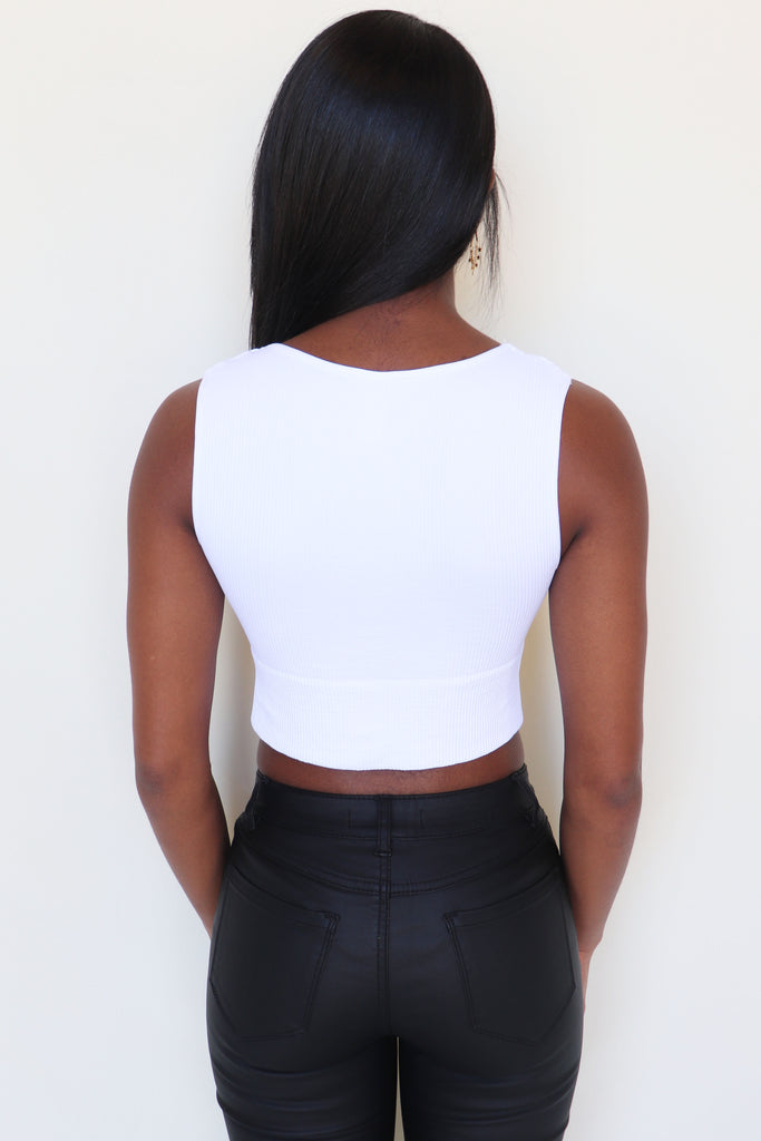 PLUNGE V-NECK CROP TOP - 2 COLORS | NIKIBIKI Blu Spero online shopping