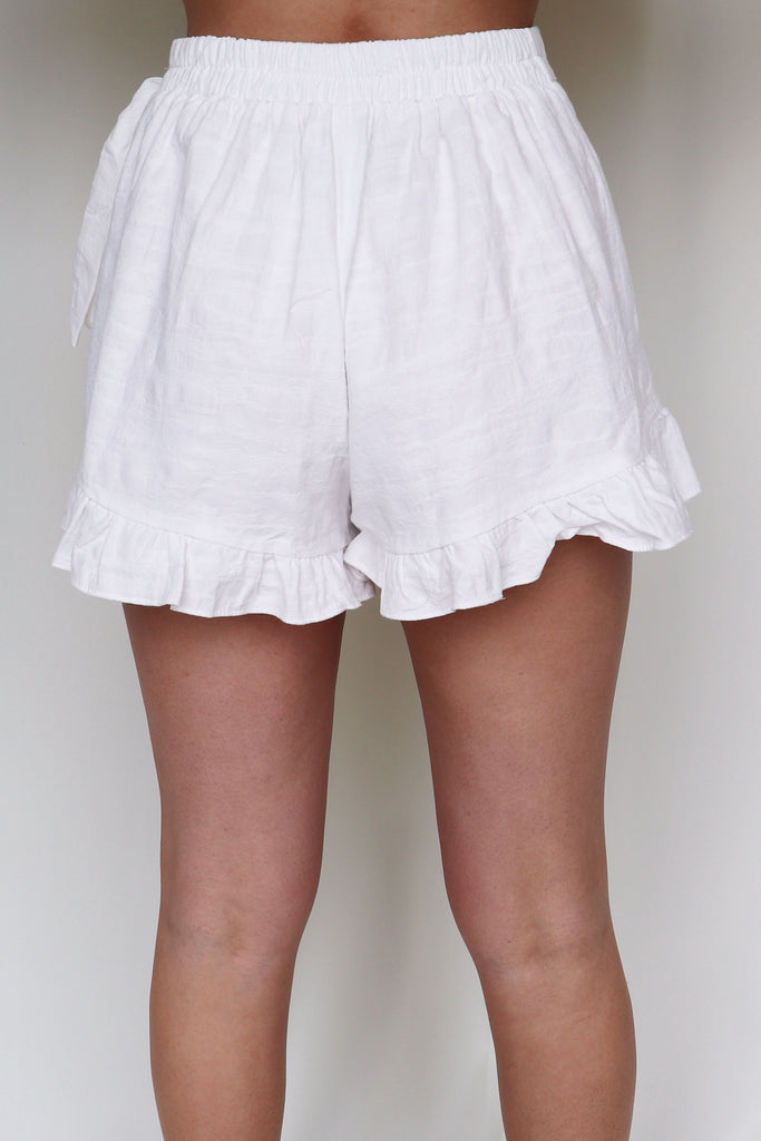 CAPTION THIS WHITE RUFFLE SKORT