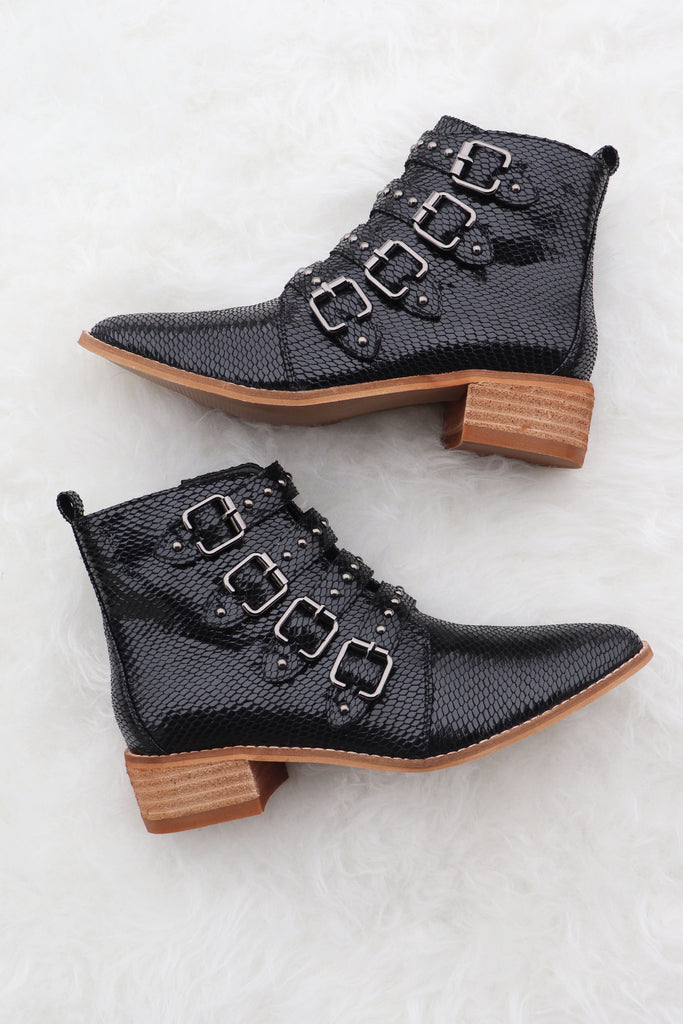 KIMBER BLACK SNAKE BOOTIES