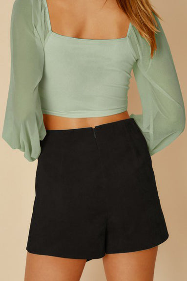STILL OF THE NIGHT WRAP SKORT - 2 COLORS | BLUE BLUSH Blu Spero online shopping