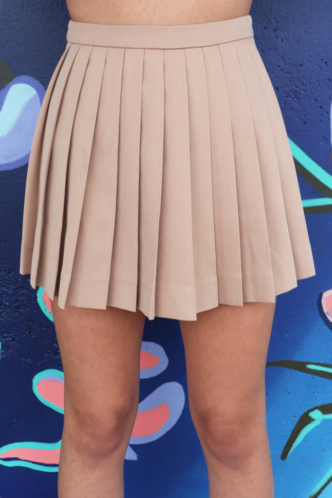 BE HAPPY PLEATED SKIRT
