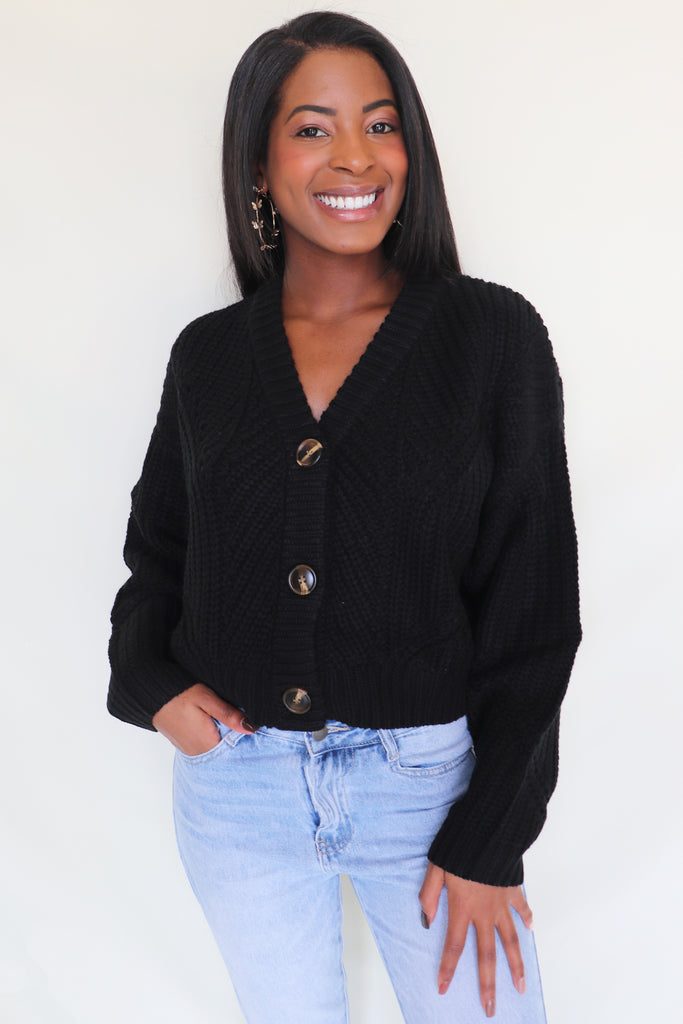 GO THE DISTANCE BLACK CARDIGAN | COTTON CANDY Blu Spero online shopping
