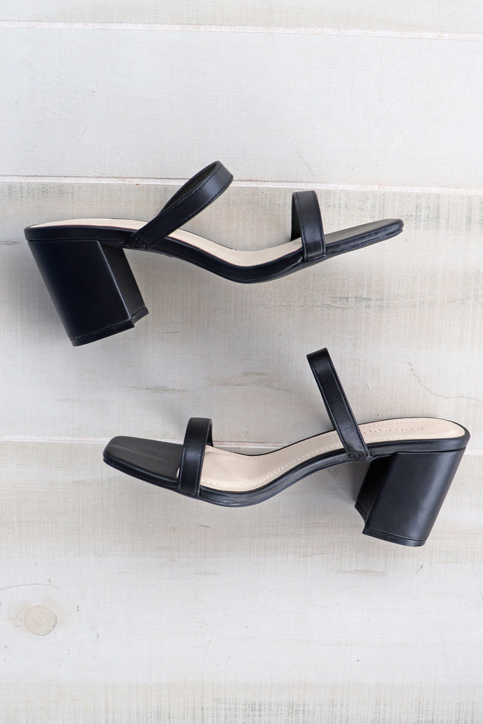 SOPHIE BLACK BLOCK HEELS | VERONA COLLECTION Blu Spero online shopping