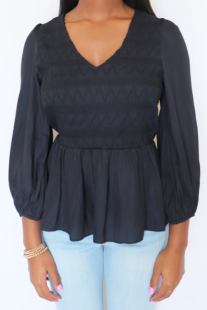 ABOUT TIME BLACK BLOUSE | MUSTARD SEED Blu Spero online shopping