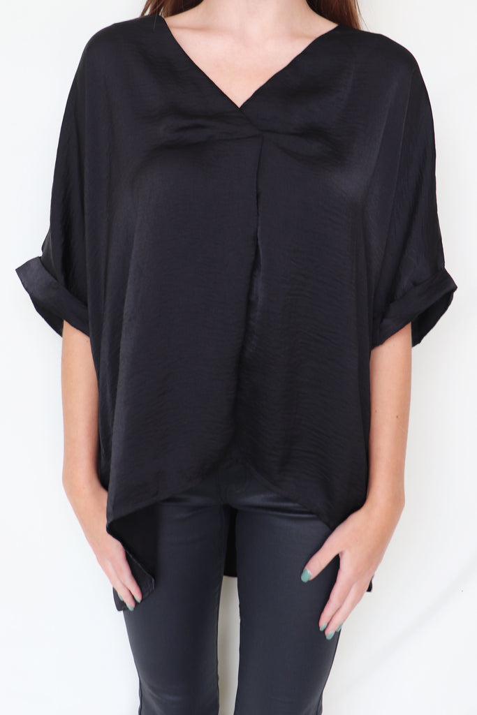 LAID BACK BLACK BLOUSE | GLAM Blu Spero online shopping