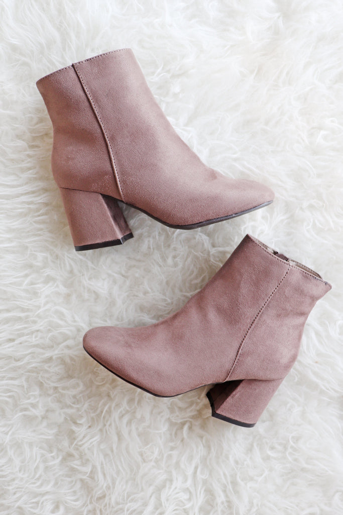 BLAIR TAUPE BOOTIE | AMA GLOBAL Blu Spero online shopping