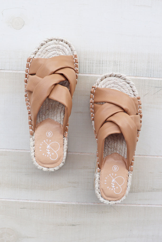 REBEL TAN PLATFORM SANDAL