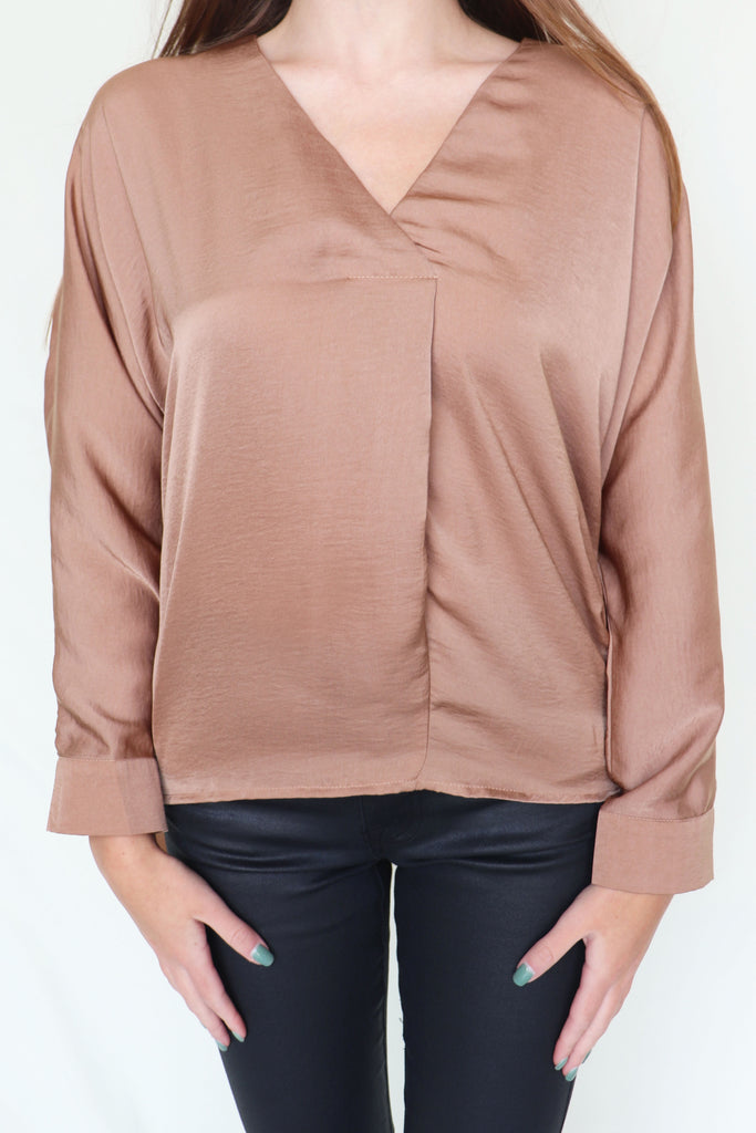 KILL WITH KINDNESS TAUPE BLOUSE | GLAM Blu Spero online shopping