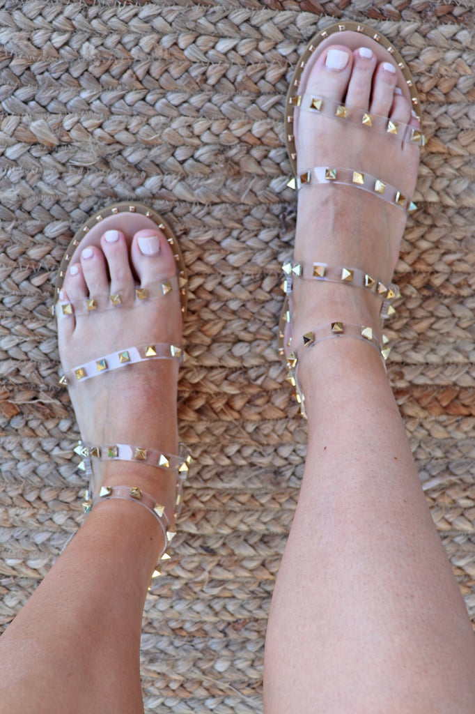 CHLOE STUDDED SANDALS