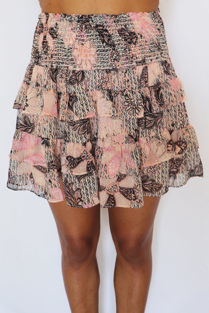 ALL THE CHARM MINI SKIRT | Olivaceous Blu Spero online shopping