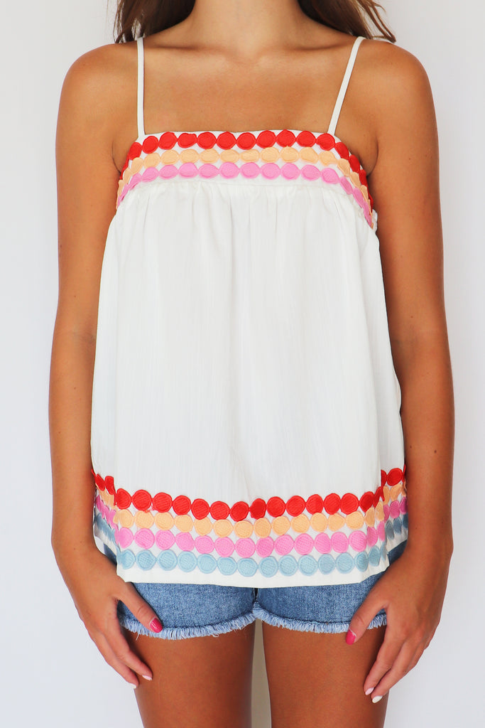 KISS ME GOODNIGHT MULTICOLORED TANK TOP | Entro Blu Spero online shopping