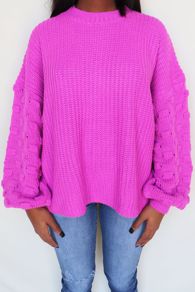CHOOSE TO SHINE THREE-DIMENSIONAL  SWEATER