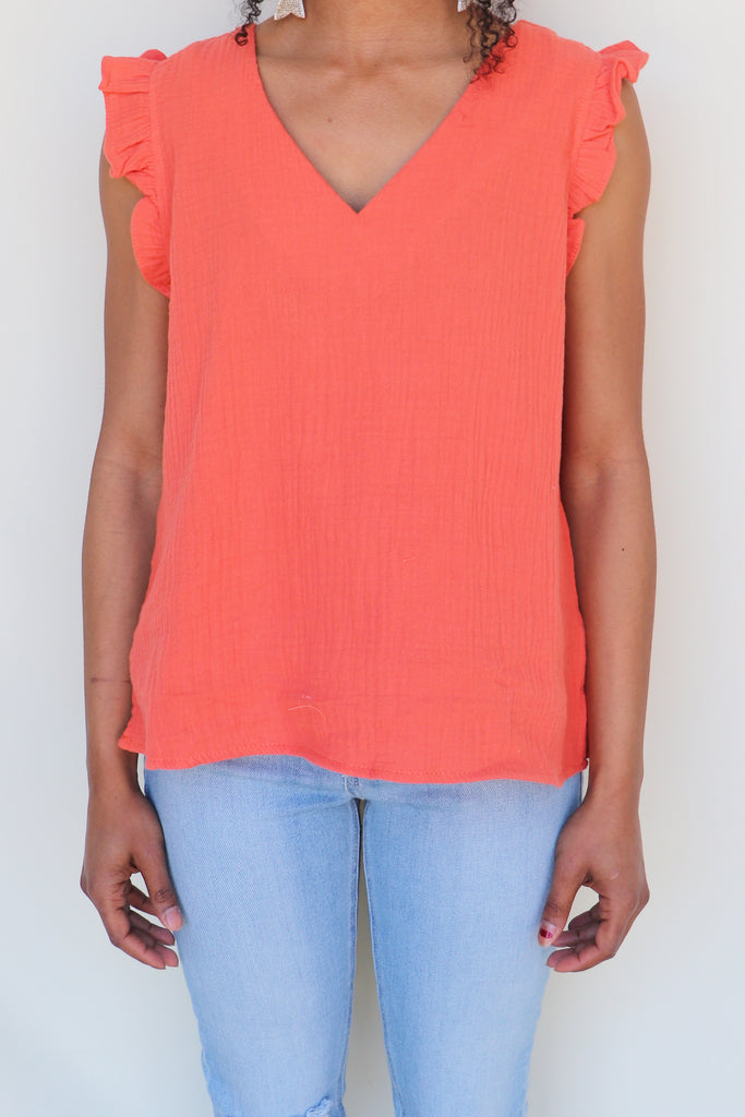 MORE CHANCES SLEEVELESS TOP - 2 COLORS