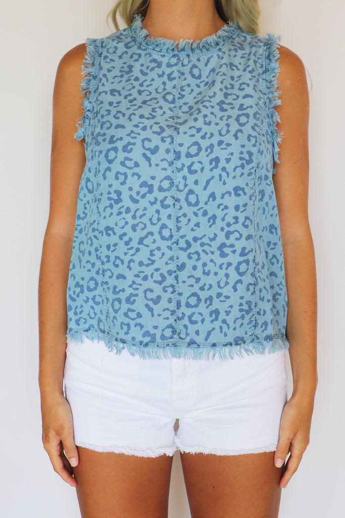 HOLD ONTO HOPE LEOPARD PRINT TOP | FATE Blu Spero online shopping
