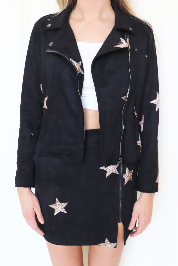 UNFORGETTABLE STAR PRINT JACKET