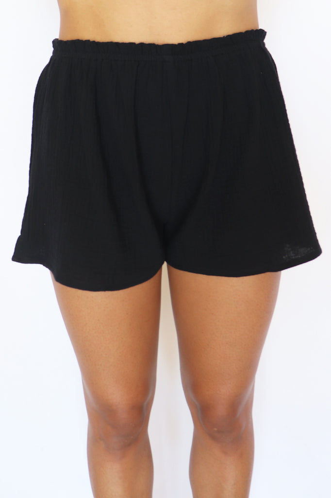 STAY COOL GAUZE LOUNGEWEAR SHORTS | PARK ADELYN Blu Spero online shopping