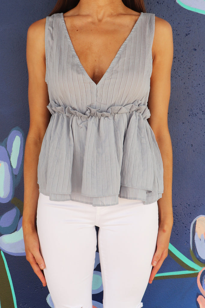 BEAUTIFUL STORIES PEPLUM TANK