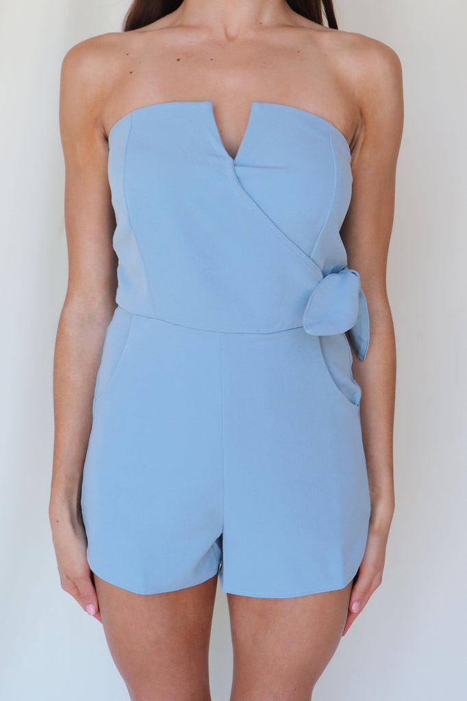CONTINUE TO GROW BLUE ROMPER