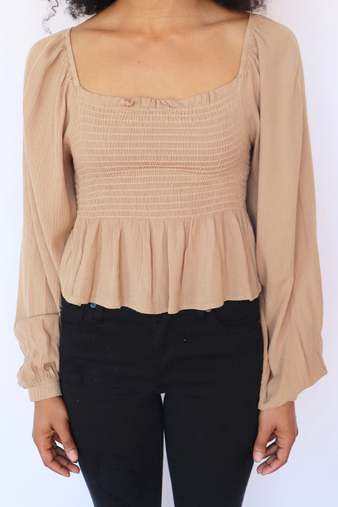 GIRLS NIGHT OUT CAPPUCCINO TOP | FINAL TOUCH Blu Spero online shopping