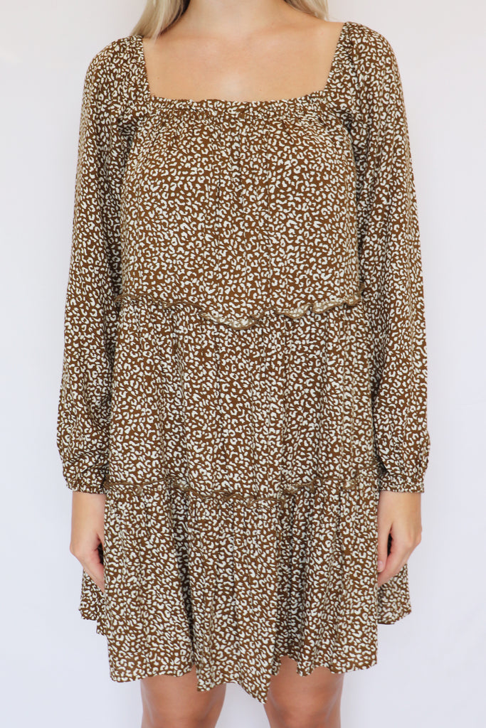 FEMME & FIERCE ANIMAL PRINT DRESS | LE LIS Blu Spero online shopping