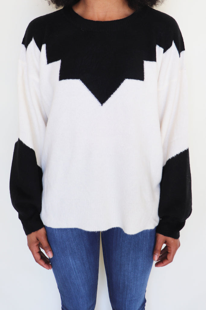 STYLISH SIDE SWEATER - 2 COLORS | Lush Blu Spero online shopping