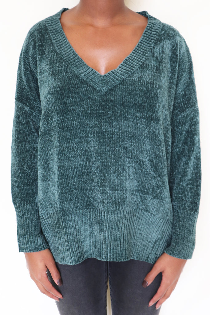 CHANGE IS COMING GREEN SWEATER | IN THE BEGINNING Blu Spero online shopping