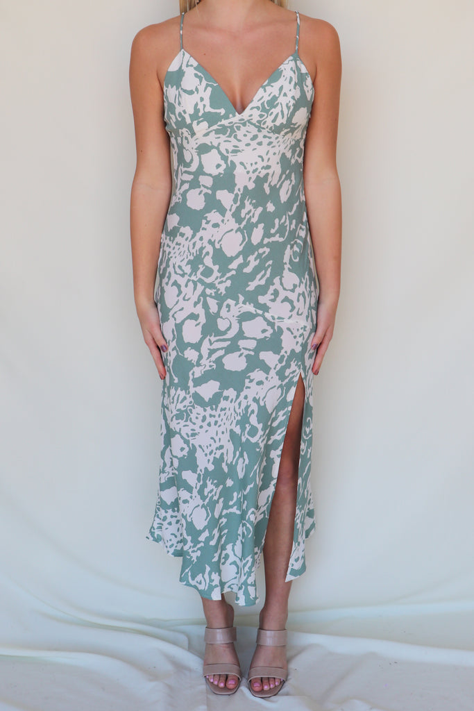 SECOND THAT EMOTION FLORAL MAXI DRESS