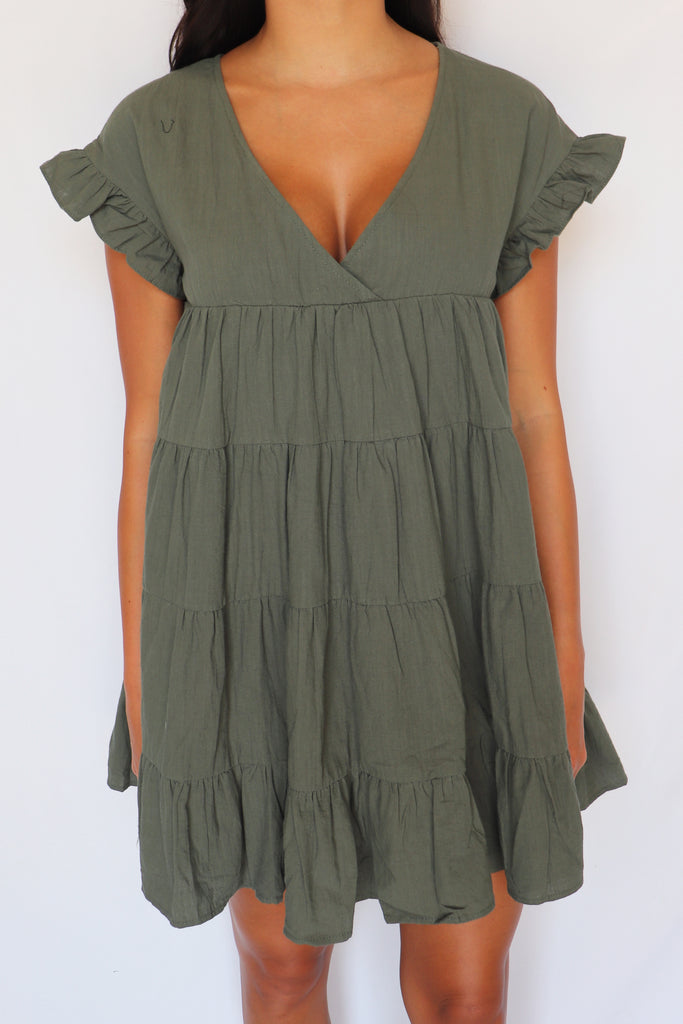 IS THIS LOVE OLIVE ROMPER | MUSTARD SEED Blu Spero online shopping
