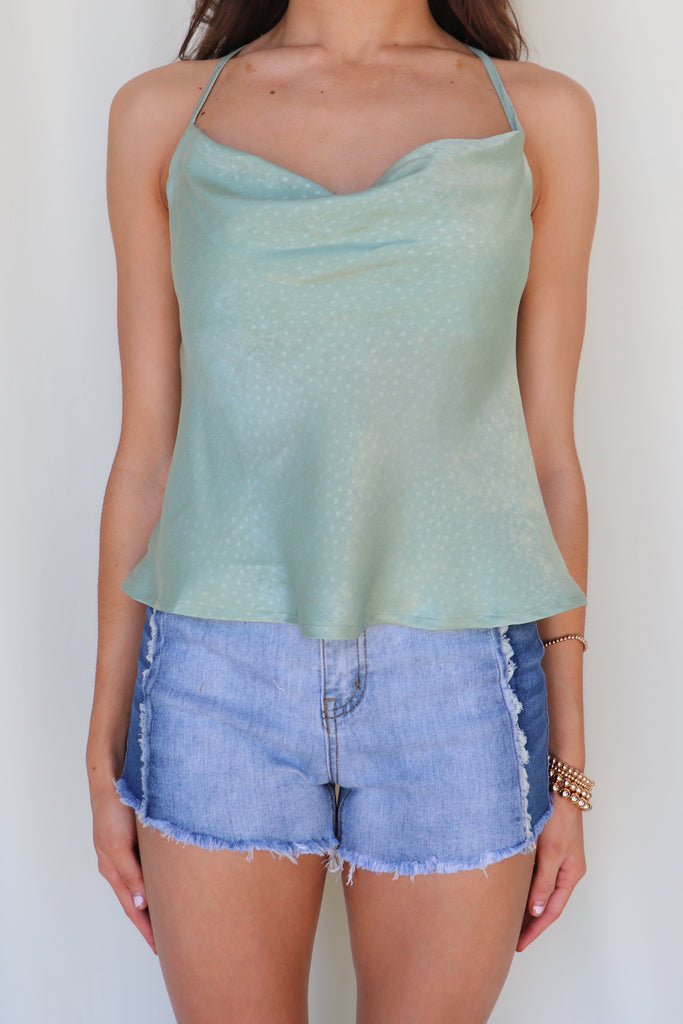 EASY BREEZY SAGE CAMI