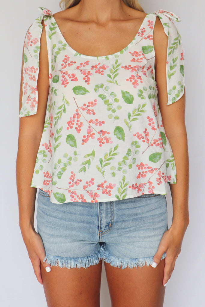 LALA LAND FLORAL PRINT TANK TOP | FANCO Blu Spero online shopping
